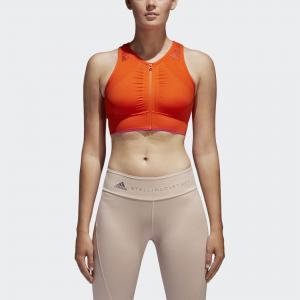 Спортивный бра-топ THE Seamless  by Stella McCartney adidas. Цвет: оранжевый