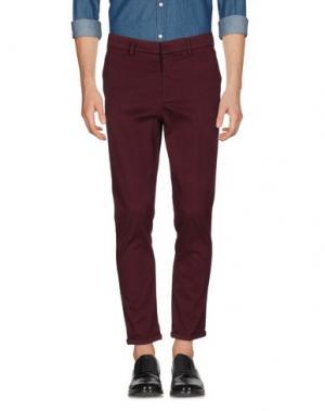 Повседневные брюки THE EDITOR. Цвет: пурпурный