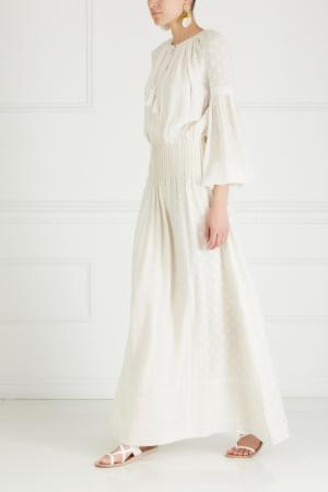 Шелковое платье Talitha. Цвет: белый