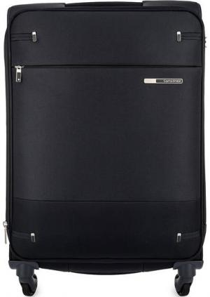 Черный чемодан на колесах Samsonite. Цвет: черный