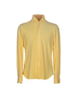 Pубашка DOMENICO TAGLIENTE. Цвет: желтый