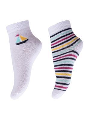 Носки PlayToday. Цвет: белый,синий,розовый