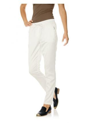 Сатиновые брюки Ashley Brooke. Цвет: молочно-белый