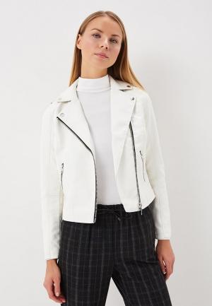 Куртка кожаная Miss Selfridge. Цвет: белый