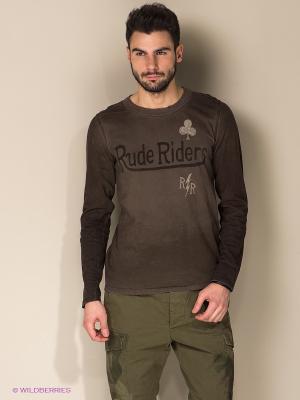 Лонгслив Rude Riders. Цвет: коричневый