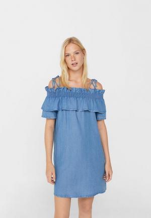Платье пляжное Mango. Цвет: синий