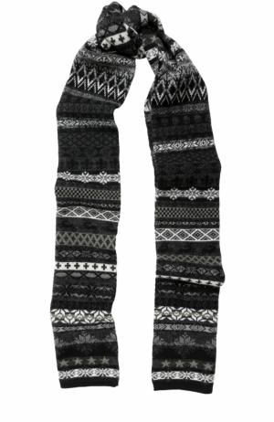 Шерстяной шарф с принтом Gemma. H. Цвет: черный