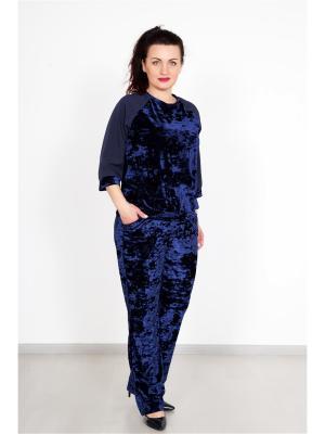 Костюм (кофта,штаны) Lika Dress. Цвет: темно-синий