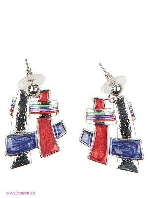 Серьги Lovely Jewelry. Цвет: красный