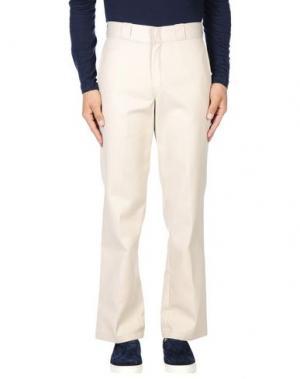 Повседневные брюки DICKIES. Цвет: светло-серый