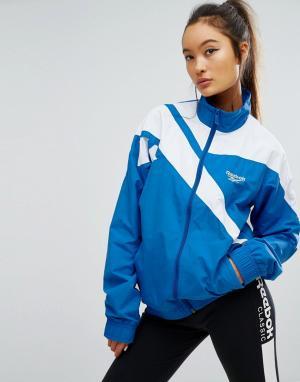 Reebok Спортивная куртка на молнии с вектором Classics. Цвет: синий