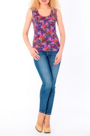 Джемпер S&A style. Цвет: фиолетово-коралловый