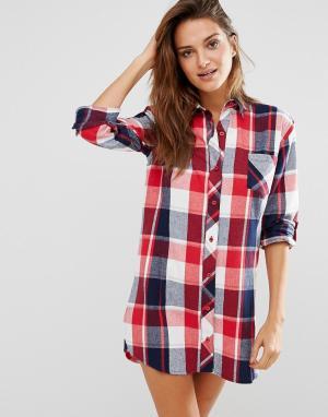 Boux Avenue Ночная сорочка в клетку Casey. Цвет: красный