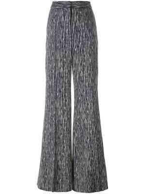 Полосатые брюки с завышенной талией Sportmax. Цвет: синий