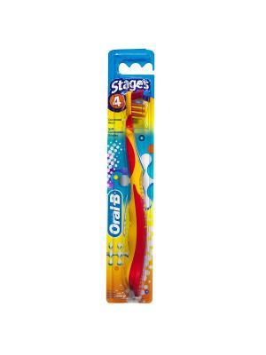 Зубная щетка Oral B Pro Expert Stages 4 (от 8 лет) мягкая 1 шт. ORAL_B. Цвет: белый, светло-голубой
