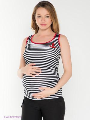 Топ для беременных 40 недель. Цвет: белый, черный