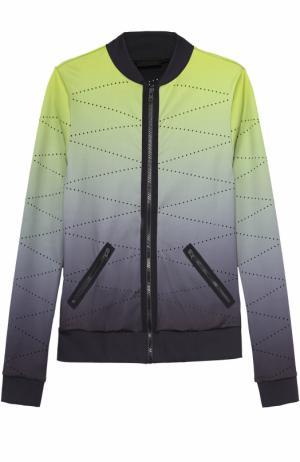 Спортивная куртка на молнии с эффектом деграде Ultracor. Цвет: желтый