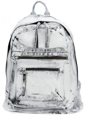 Рюкзак с эффектом потертости Barbara I Gongini. Цвет: белый
