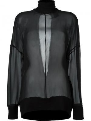 Прозрачная блузка Ann Demeulemeester. Цвет: чёрный