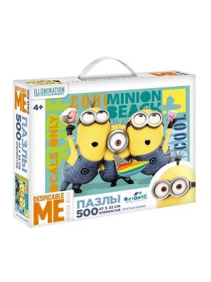 Minions. Пазл 500 элементов Крутые парни в чемоданчике. Minions. Цвет: желтый, синий, зеленый