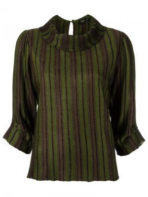 Stripped blouse Gig. Цвет: зелёный