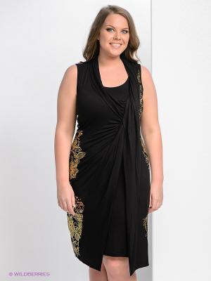 Платье Giani F. Цвет: черный, золотистый