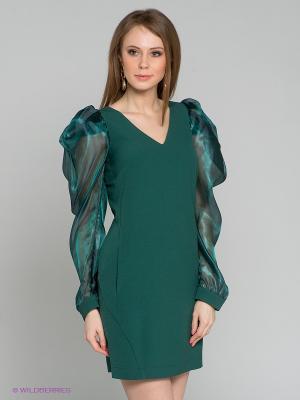 Платье Satin. Цвет: темно-зеленый