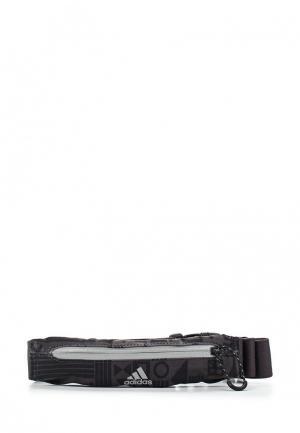 Сумка поясная adidas Performance. Цвет: серый
