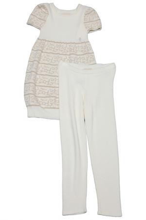 Набор: кофта, брюки Pinco Pallino. Цвет: кремовый