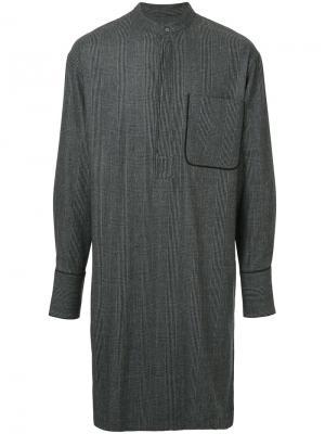 Рубашка с V-образным вырезом Wooyoungmi. Цвет: серый