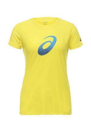 Футболка спортивная ASICS. Цвет: желтый