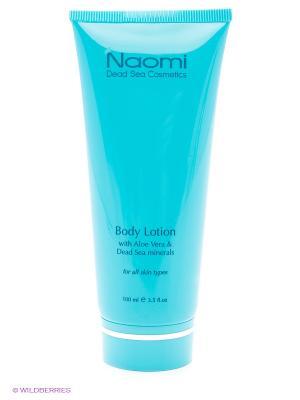 Лосьон для тела с Алоэ Вера и минералами Мертвого моря Naomi Dead Sea Cosmetics. Цвет: голубой