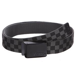 Ремень  Deppster Web Belt Black/Charcoal Vans. Цвет: серый,черный