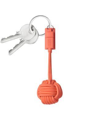 Брелок с  зарядным кабелем, цвет оранжевый , KEY-L-COR KEY CABLE Native Union. Цвет: оранжевый