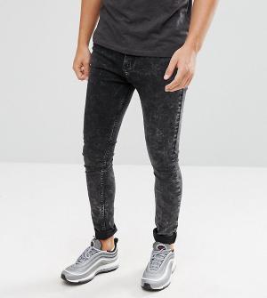 Brooklyn Supply Co. Обтягивающие джинсы с эффектом кислотной стирки Co. Цвет: черный