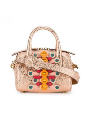 Мини-сумка-бочонок Vere Anya Hindmarch. Цвет: жёлтый и оранжевый