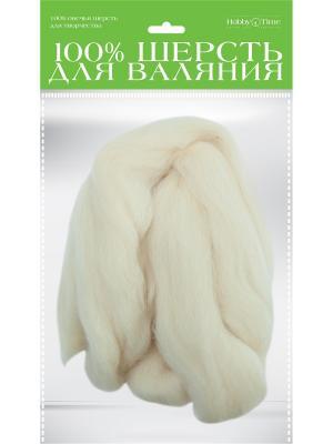 Шерсть для валяния полутонкая (гребенная лента), суровая, 50 гр. Альт. Цвет: серый