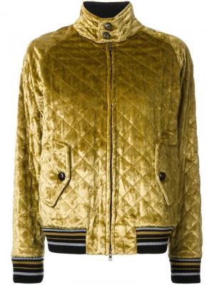 Стеганая куртка-бомбер Maison Margiela. Цвет: жёлтый и оранжевый