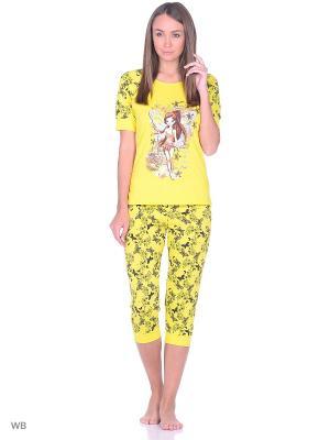 Пижама NAGOTEX. Цвет: желтый, черный