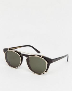 Han Kjobenhavn Солнцезащитные очки с пристегивающимися стеклами Timele. Цвет: черный