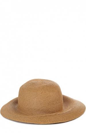 Шляпа с брошью Eric Javits. Цвет: темно-бежевый