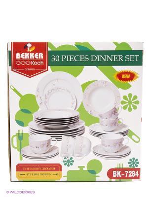 Сервиз обеденный Bekker. Цвет: белый
