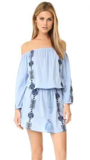Платье Bardot PAMPELONE. Цвет: голубой/темно-синий