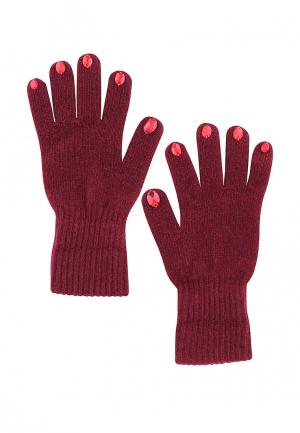 Перчатки Anna Slavutina. Цвет: бордовый