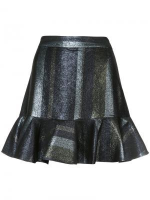 Расклешенная юбка с оборками Derek Lam 10 Crosby. Цвет: металлический