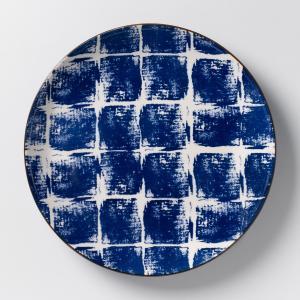 Комплект из 4 мелких тарелок керамики Malado AM.PM.. Цвет: горчичный,индиго