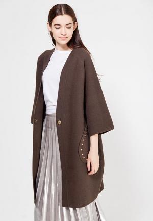 Пальто Fresh Cotton. Цвет: коричневый