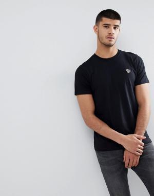 PS Paul Smith Черная облегающая футболка с логотипом. Цвет: черный