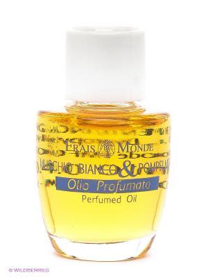 Парфюмированное масло Белый мускус и грейпфрут Frais Monde. Цвет: голубой