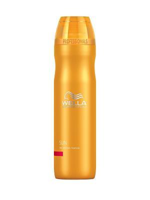 Wella Sun Шампунь для волос и тела 250 мл Professional. Цвет: прозрачный